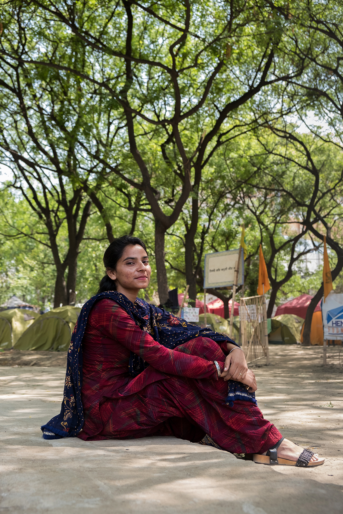 Nodeep Kaur at the Singhu Border